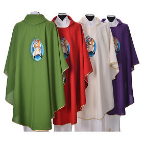 STOCK Pope Francis' Jubilee Chasuble with GERMAN writing s2