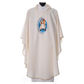 STOCK Pope Francis' Jubilee Chasuble with GERMAN writing s4
