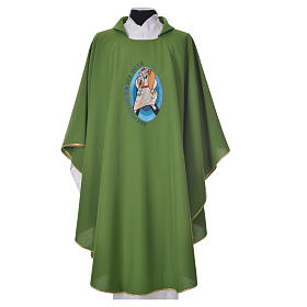 STOCK Pope Francis' Jubilee Chasuble with GERMAN writing s6
