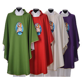 STOCK Pope Francis' Jubilee Chasuble with English writing s1
