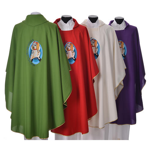 STOCK Pope Francis' Jubilee Chasuble with English writing 2