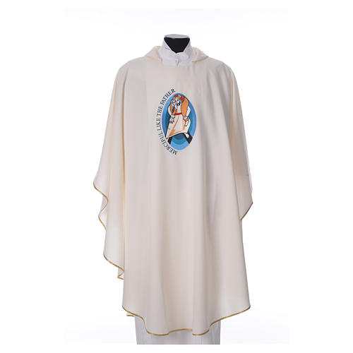STOCK Pope Francis' Jubilee Chasuble with English writing 3