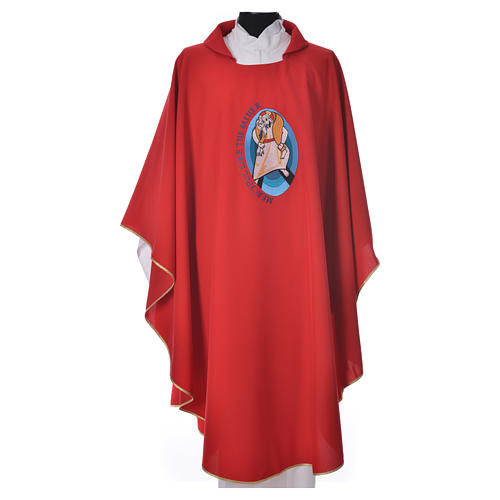 STOCK Pope Francis' Jubilee Chasuble with English writing 7
