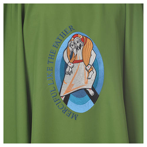 STOCK Pope Francis' Jubilee Chasuble with English writing 8