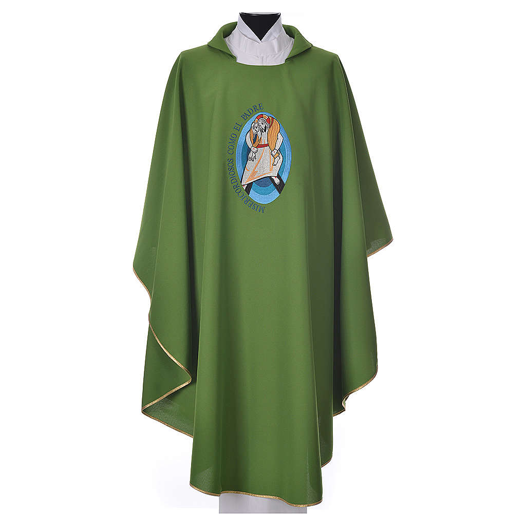 STOCK Pope Francis' Jubilee Chasuble with Spanish writing 4