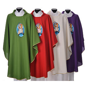 STOCK Pope Francis' Jubilee Chasuble with Spanish writing s1