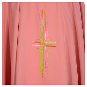 Casula rosa 100% poliestere croce dorata s3