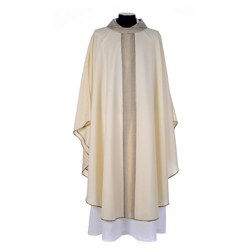 Chasuble in pure thin wool 1