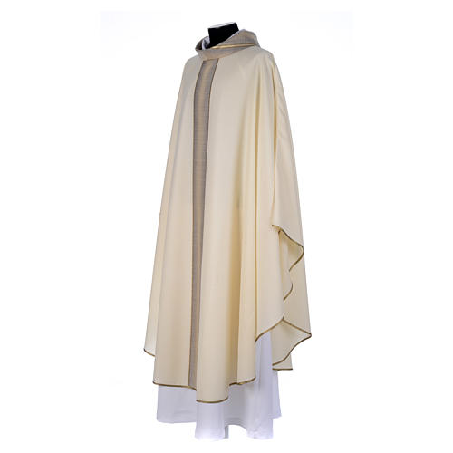 Priest Chasuble in pure thin wool 2