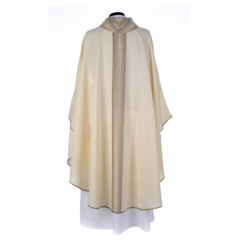 Priest Chasuble in pure thin wool 3