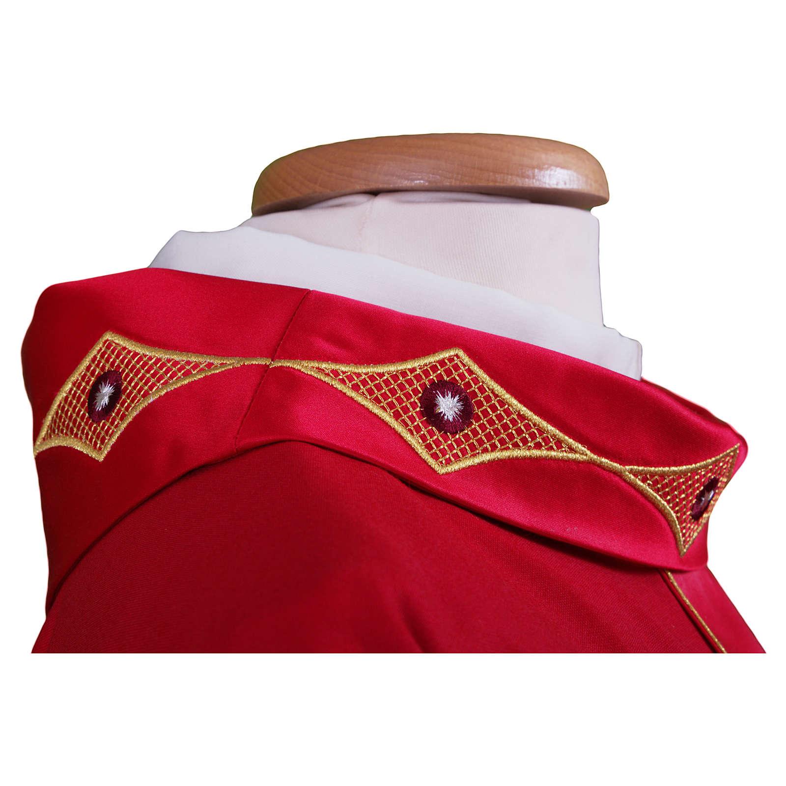 Casula em lã pura estolão e gola bordados 4