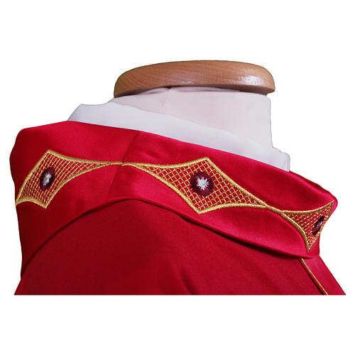 Casula em lã pura estolão e gola bordados 3