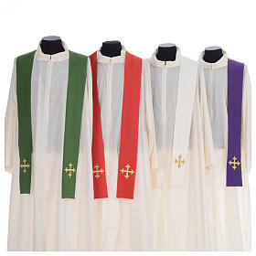 Chasuble gold cross embroidery 100% polyester s7