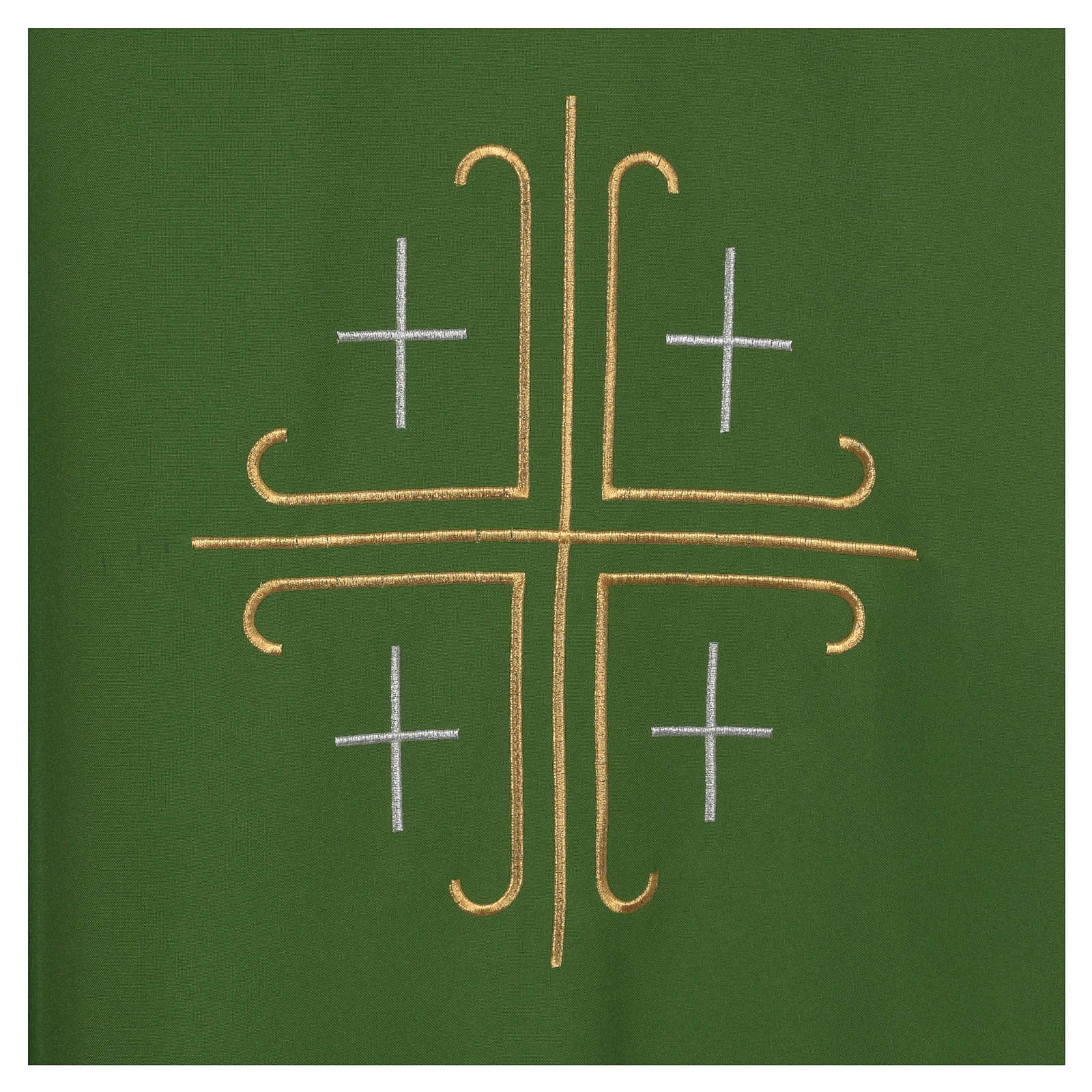 Casula crepe poliestere croce centrale e quattro croci 4