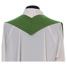 Catholic Chasuble in polyester crepe with central cross and four crosses s6
