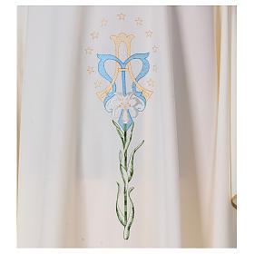 Casula com lírio estrelas iniciais Santíssimo Nome de Maria s2
