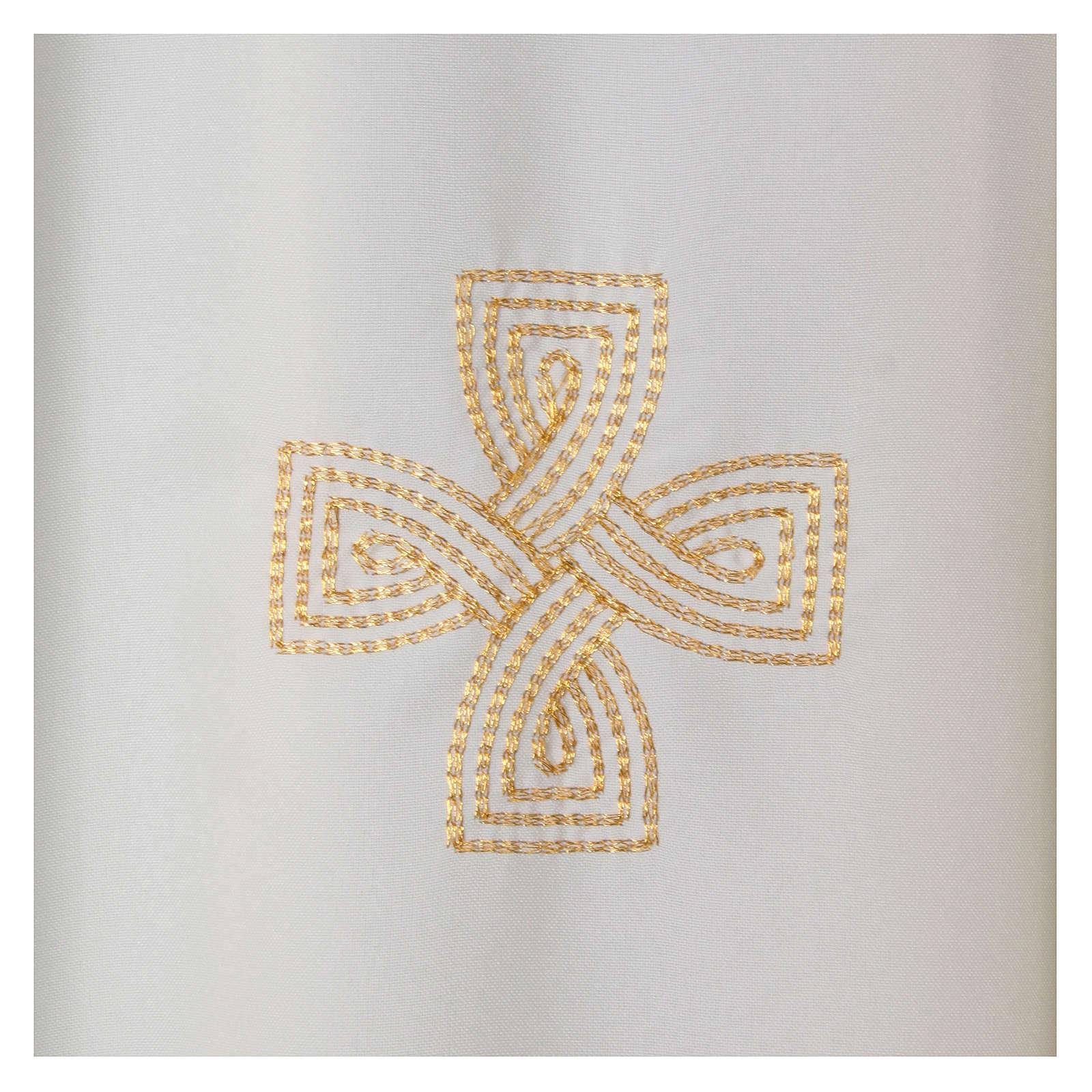 Kasel Polyester mit drei gestickerten Kreuzen 4