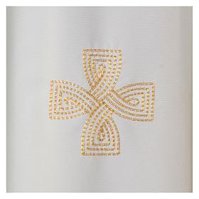 Kasel Polyester mit drei gestickerten Kreuzen s2