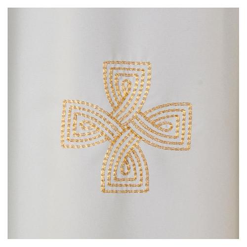 Kasel Polyester mit drei gestickerten Kreuzen 2