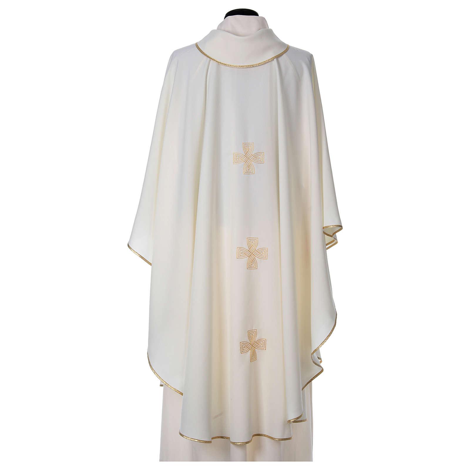 Chasuble trois croix broderies tressées 4