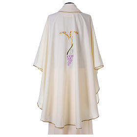 Chasuble with three golden ears of wheat and grapes s5