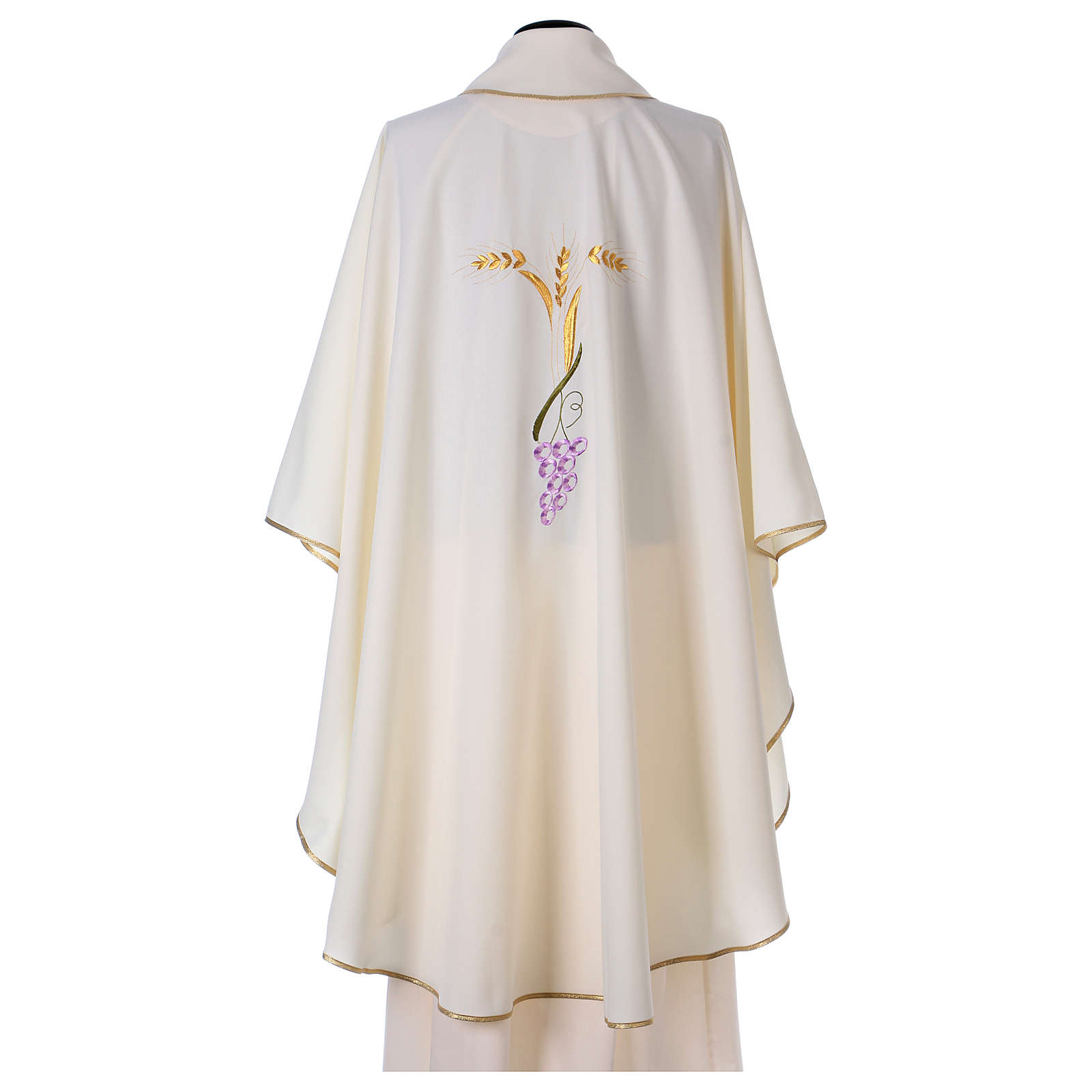 Priest Chasuble with three golden ears of wheat and grapes 4
