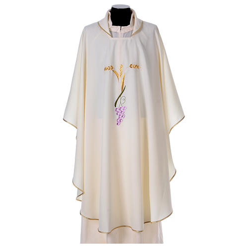 Priest Chasuble with three golden ears of wheat and grapes 1