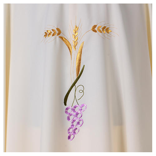 Priest Chasuble with three golden ears of wheat and grapes 2
