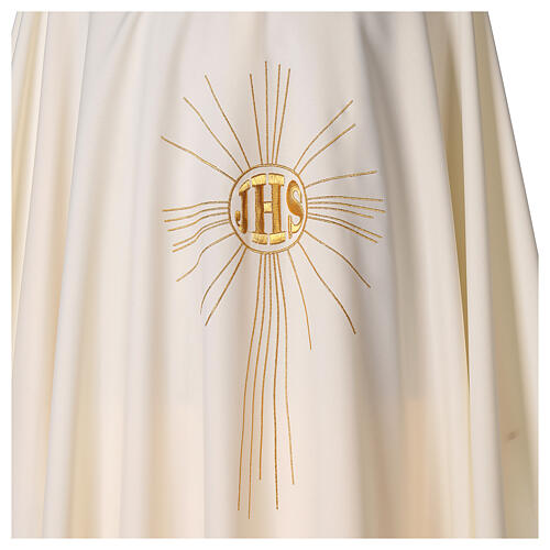 Chasuble en crêpe polyester avec rayons et symbole IHS 2