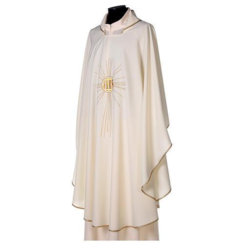 Chasuble en crêpe polyester avec rayons et symbole IHS 3