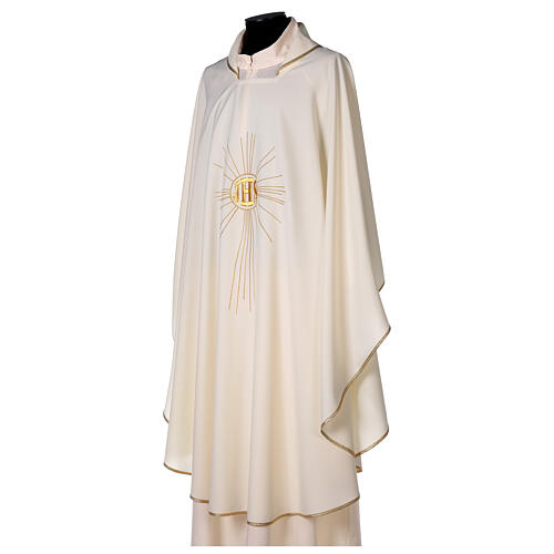 JHS Chasuble with rays in polyester crepe 3