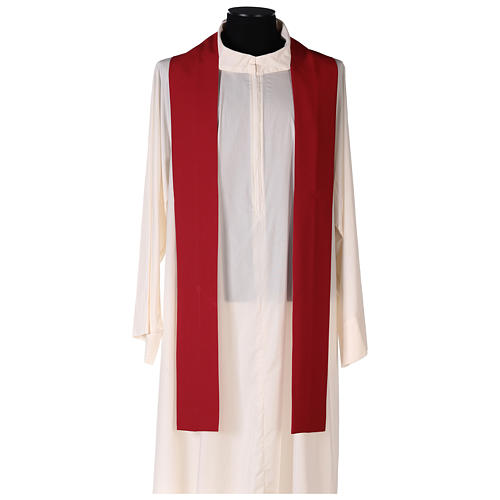 Chasuble in polyester canvas with cross and deer 6
