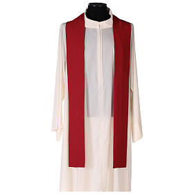 Chasuble toile polyester Chi-Rho croix cerf s6