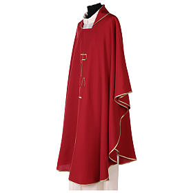 Sacred Chasuble with cross and deer in polyester canvas s3