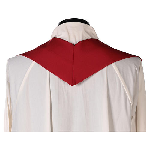 Sacred Chasuble with cross and deer in polyester canvas 7