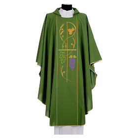 Casulla sacerdotal 100% pol XP uva espigas s1
