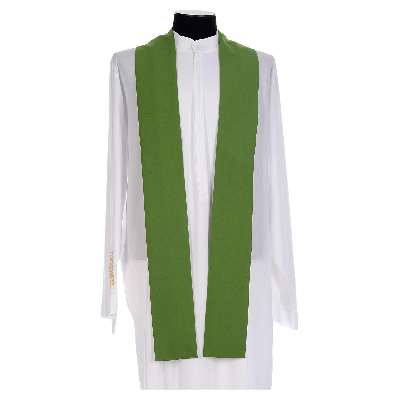 Chasuble prêtre 100% polyester Chi-Rho raisin épis 4