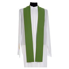 Chasuble prêtre 100% polyester Chi-Rho raisin épis s5