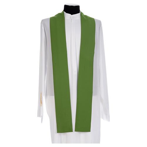 Chasuble prêtre 100% polyester Chi-Rho raisin épis 5