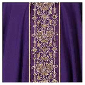 Casulla estolón delante tejido Vatican 100% poliéster s2