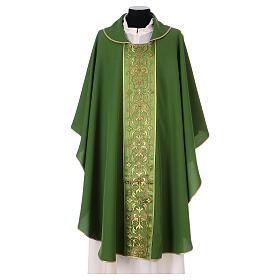 Casulla estolón delante tejido Vatican 100% poliéster s3