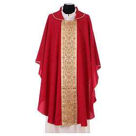 Casulla estolón delante tejido Vatican 100% poliéster s4
