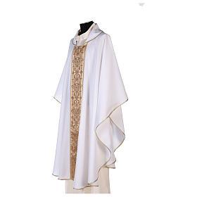 Casulla estolón delante tejido Vatican 100% poliéster s8
