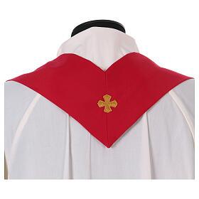 Casulla estolón delante tejido Vatican 100% poliéster s11