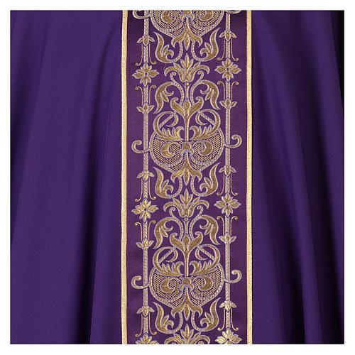 Casulla estolón delante tejido Vatican 100% poliéster 2