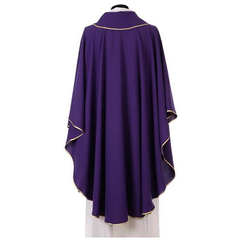 Casulla estolón delante tejido Vatican 100% poliéster 3