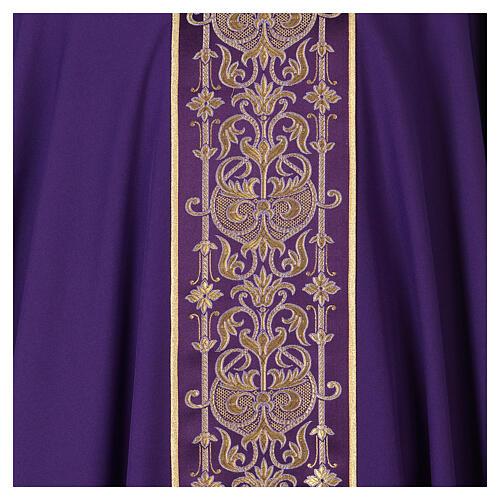 Casulla estolón delante tejido Vatican 100% poliéster 6