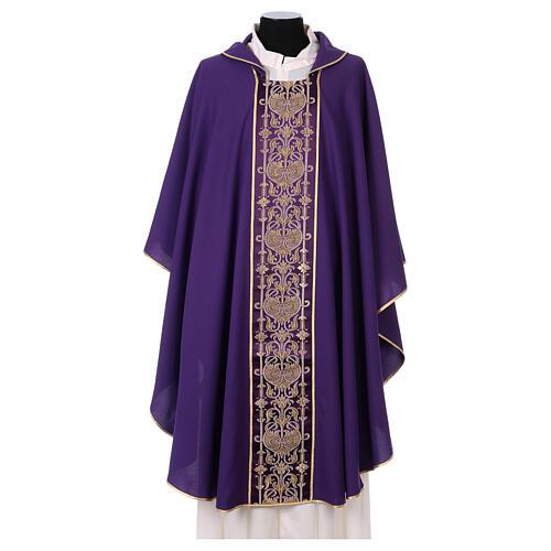 Casulla estolón delante tejido Vatican 100% poliéster 7