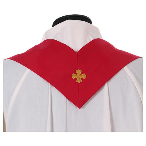 Casulla estolón delante tejido Vatican 100% poliéster 11