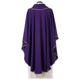 Chasuble bande avant tissu Vatican 100% polyester s3